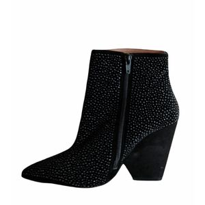 JEFFREY CAMPBELL Suede Studded Ankle Boots-7